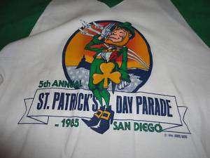 Vintage Tshirt St Patricks DAy Parade 1985 Sand Diego