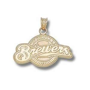Gold Plated MILWAUKEE BREWERS FULL LOGO 9/16 Sports & Outdoors