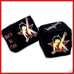 Betty Boop Hanging Plush Dice Auto/Car Accesories