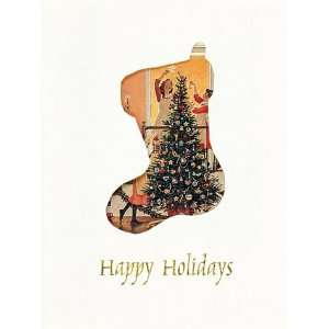 Winter Windows Holiday Boxed Cards; Christmas Stocking