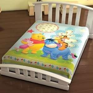 Disney Winnie The Pooh Family Plush Baby Blanket 43 x 55