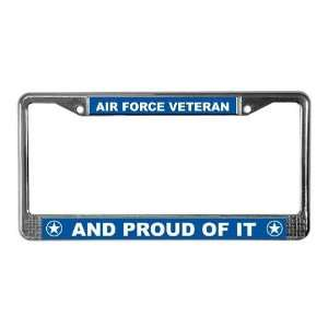 Air Force Veteran Military License Plate Frame by