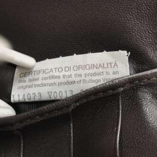 BOTTEGA VENETA Woven Leather Wallet Coin Purse Brown