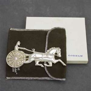 1980 Horse & Sulky Sterling Ornament by Gorham: Home