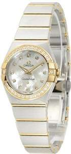 NEW OMEGA MINI CONSTELLATION LADIES GOLD & DIAMOND WATCH  ► 123.25