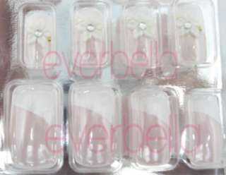 12 PCS 3D Pre design French Acrylic False Nail Tips 6