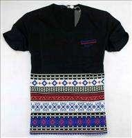 NWT Moschino Mens V neck Pocket Simple Pattern T shirt 1856White Size