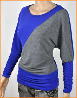 Lady/Womens Knitted Fabric Fashion Batwing Long Sleeve T Shirt Tops