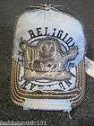 NWT TRUE RELIGION BUDDHA LEATHER CAP HAT AUTHENTIC COLOR: BLUE STYLE