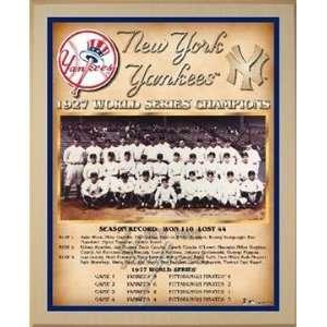 1927 New York Yankees World Series Championship Team Photo Plaque (you