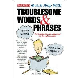 Troublesome Words and Phrases (9780764116339): James E. Allison: Books