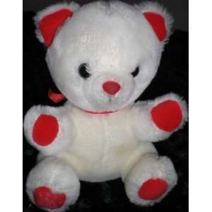 6 Plush White Teddy Bear Toy By Applause Toys & Games