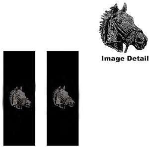 White Champion Horse Gem Crystal Studded Rhinestone Bling