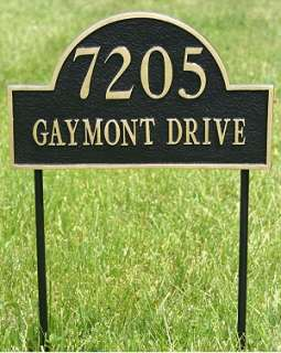 Aluminum Home Yard Address Arch Plaque   House Sign