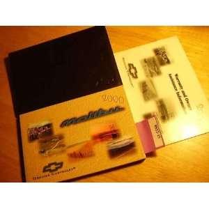 2000 Chevy Chevrolet Malibu Owners Manual Chevrolet Books