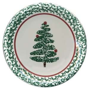 com Furio Contemporary Casuals, 4 Holiday Christmas Tree Salad Plates