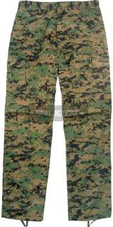 Woodland Digital Camouflage Military BDU Cargo Polyester/Cotton