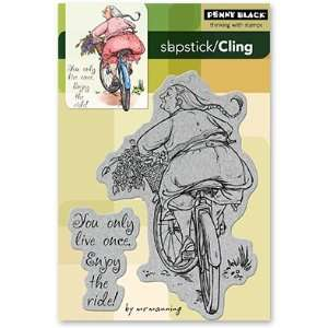 Penny Black Cling Rubber Stamp 4X6 Enjoy The Ride: Arts