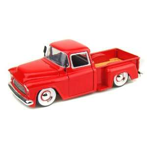 1955 Chevy Stepside Pickup Truck  Baby Moon 1/24   Red Toys & Games