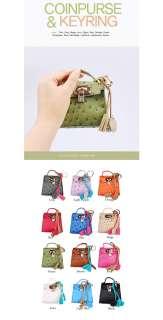 Bag Charm Luxury Keychain Cute Mini Coin Purse Wallet Key Ring Women