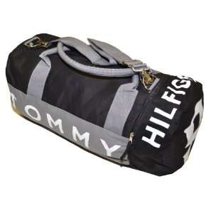 Tommy Hilfiger Big Logo Duffle Bag (Black): Clothing