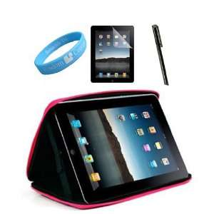 Cube Black Pink Carrying Case for iPad + Apple iPad Black