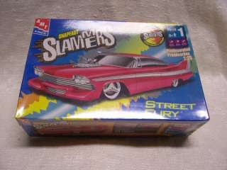 PLYMOUTH FURY STREET SLAMMER PRE PAINTED AMT 1/25 MODEL KIT SEALED