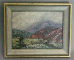 Vintage California Impressionist Oil Painting c. 1957 Margaret