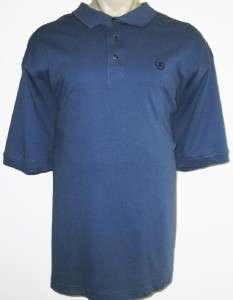 NEW 4XLT IZOD MENS POLO SHIRT Blue Solid 4XT 4X TALL