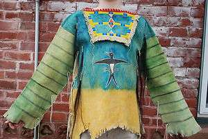 Beaded Northern Cheyenne Plains War Shirt Painted Hide warrior