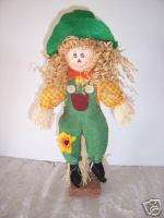 STANDING SCARECROW AUTUMN HARVEST FALL DECORATION
