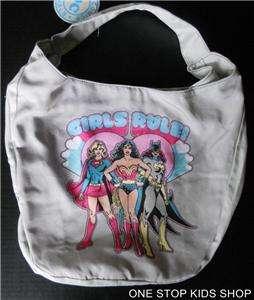 BATGIRL Girls Messenger Hobo Bag Pouch Backpack Purse SUPERGIRL Wonder