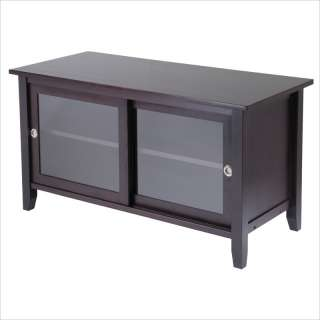 Winsome Solid Wood Media Espresso Finish TV Stand