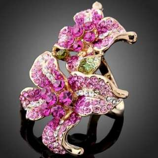 Lily ARINNA Swarovski Crystal 18KGP Fashion Finger Ring