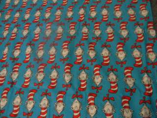 Dr Seuss Characters Cat in The Hat Blanket Handmade