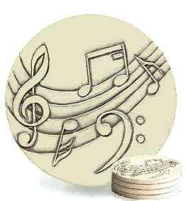 Music stone absorbent drink coasters - Stone absorbent coasters ...