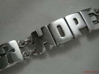 James Avery Sterling Faith, Hope, Love Bracelet   Ret.