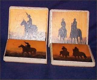 Cowboy Western Horse Coasters Tile Country Farm Decor