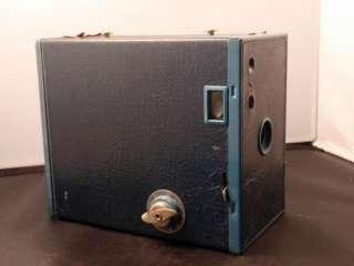 VTG 1920s KODAK BROWNIE 2A BOX CAMERA RARE BLUE
