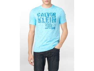 calvin klein splatter sunburst logo graphic t shirt mens