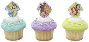 Disney Princess (12) Garden Trellis Birthday Party Cupcake Plastic