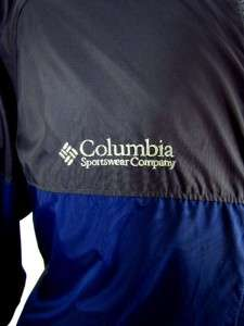 mens blue charcoal COLUMBIA packable windbreaker jacket lightweight