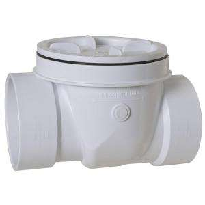 Sioux Chief 4 in. PVC DWV Inside Fit Backwater Valve 869 4PPK at The