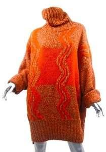 NWT Finest Italian 6 Ply Cashmere ZIG ZAG Color Blocked Sweater/Tunic