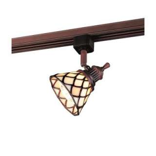 Hampton Bay Linear Track Head Oil Rubbed Bronze Tiffany Shade