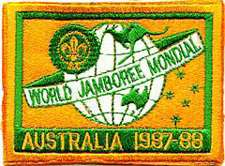 1987 88 World Jamboree POCKET PATCH  Boy Scout Patch