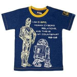 New Boys STAR WARS Blue C3PO R2D2 T shirt Top BNWT Fabric Flavours