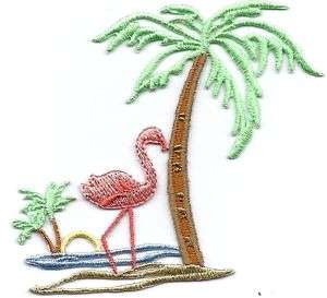 Birds Tropical/Flamingo,Palm Tree,Sun Iron On Applique