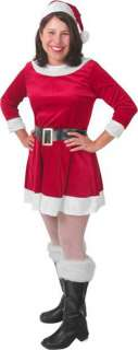 Womens Sexy Mrs Santa Claus Helper Outfit Costume