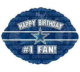 Happy Birthday #1 Fan  with the Dallas Cowboys Star in the center